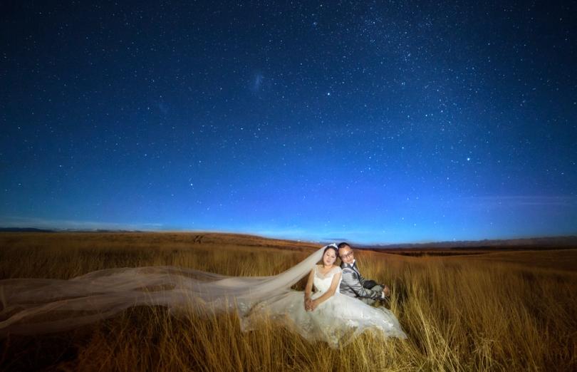new zealand pre-wedding night photography